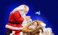 Diálogo entre o Pai Natal e o Menino Jesus