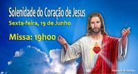 Solenidade do Coração de Jesus: Missa 19h00